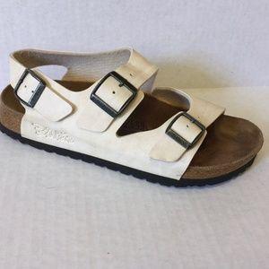 Birki's 38 Milano Sandals Ivory Birkenstock Shoes